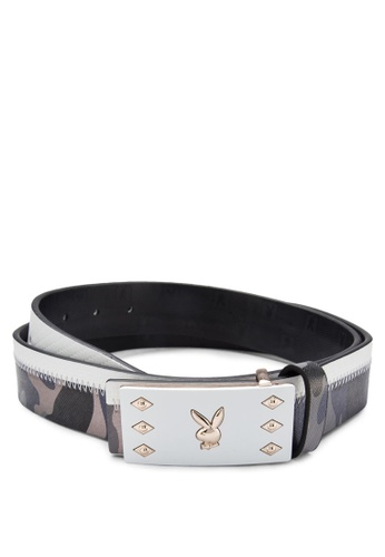 Playboy blue and gold Playboy Belt PL371AC66KPXMY_1