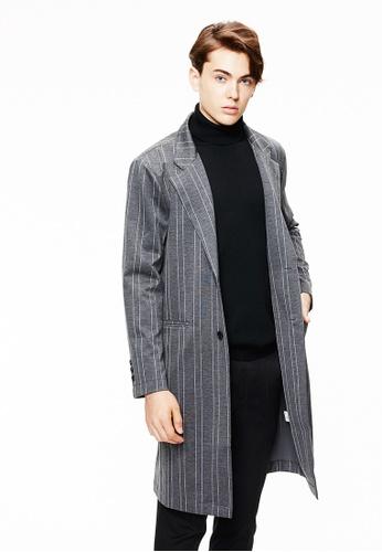 Life8 grey Formal Knit Coat-11131-Grey LI283AA0GOPBSG_1