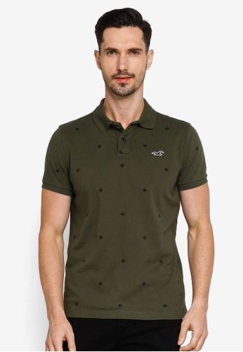 Hollister green Core Polo Shirt 7ADDCAA9D4D994GS_1