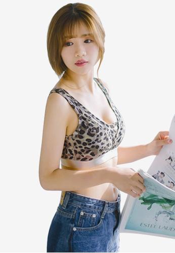 Sesura grey Leopard Mix Soft Bra 27B60USEE6EB8CGS_1