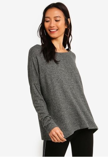 ONLY grey Kleo Back Detail Pullover 71A51AA9ACA2C1GS_1