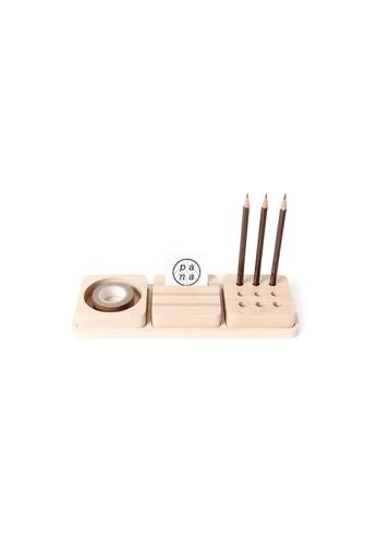 Pana Objects Tofu Mini: Stationery Set (Maple) 05601HLAB298B4GS_1