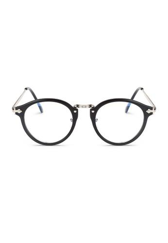 Kyfer's Eyewear & Essentials black and silver Oversize Round Vintage Eyewear II KY376AC96JEHSG_1