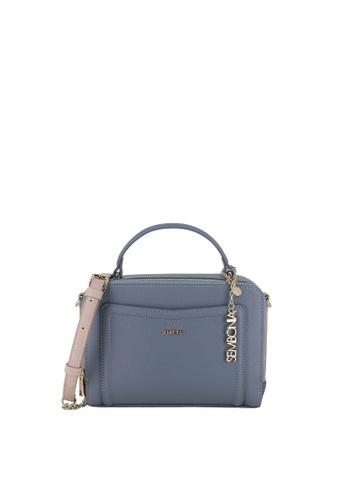 SEMBONIA blue Bejewelled Zip-Around Crossbody Bag A235AACA0490D1GS_1