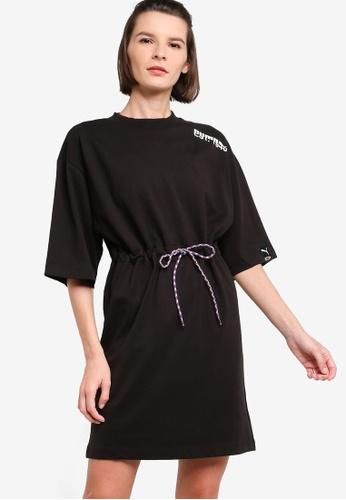 PUMA black PUMA International Women's Tee Dres B8609AAF1DB85AGS_1