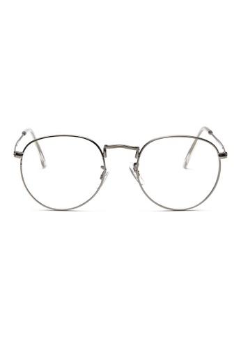 Kyfer's Eyewear & Essentials silver Semi Round Metal Eyewear KY376AC45RBESG_1