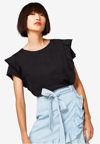 ESPRIT black Airy Cotton T-shirt 794CAAA3CF995BGS_1