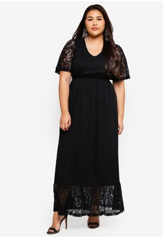 d56bb6f94a2e Junarose black Plus Size Salli Maxi Dress 58CF5AA332039FGS 1