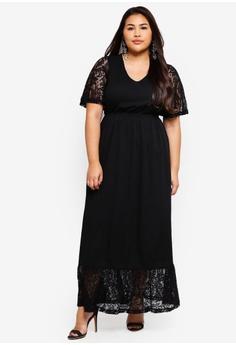 5e57fdecdc9e Junarose black Plus Size Salli Maxi Dress 58CF5AA332039FGS 1