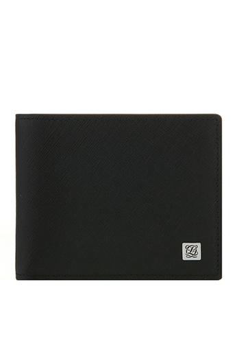 Louis Quatorze black and blue Leather Wallet LO321AC22LQNSG_1