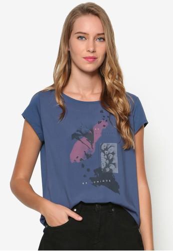 圖文設計esprit outlet 台中棉質T 恤, 服飾, 上衣