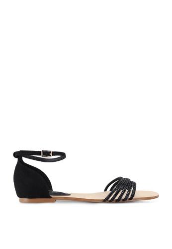 Forever New black Tayla Embellished Vamp Sandals 7E916SH1BFFABBGS_1