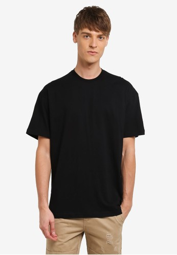 Flesh IMP black Sided Wings Oversized T-shirt FL064AA0RNA8MY_1