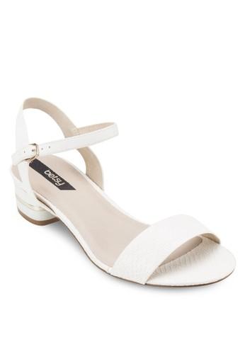 素色踝帶低根涼鞋, esprit 鞋女鞋, 鞋