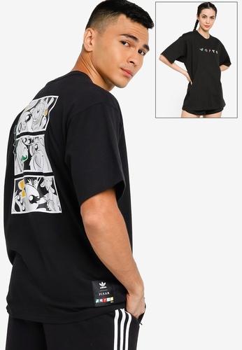 ADIDAS black manga short sleeve tee (gender neutral) D7DB6AAA7F89B5GS_1