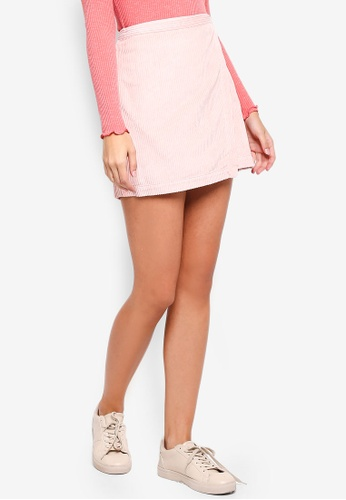 Abercrombie & Fitch pink Cord Mini Skirt AAD59AADE8A72EGS_1