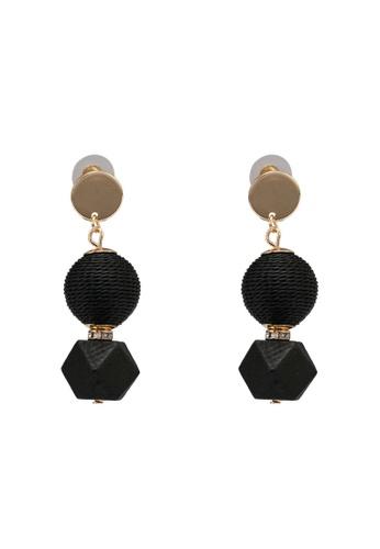 ALDO black Novala Pierced Earrings A6A78AC8C7C6E3GS_1