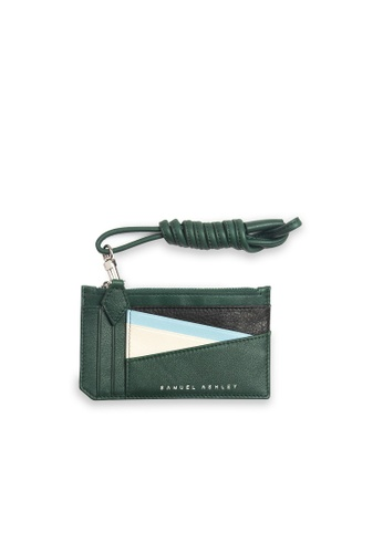 Samuel Ashley green Orlando Zip Purse Card Holder - Pine/Beige F0FF6AC02C1B57GS_1