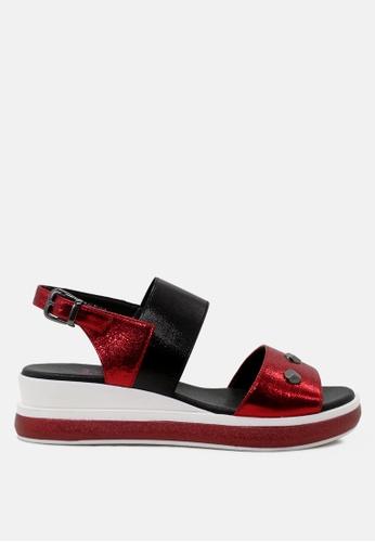 London Rag 紅色 制作于London Rag防水台女式凉鞋 686BASH85C0BFFGS_1