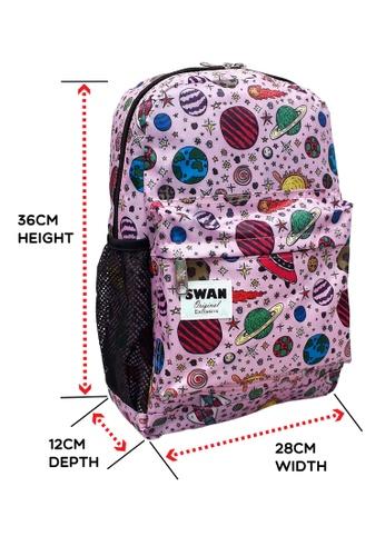 Swan pink Swan Kids Children Easy Pack (Pink Space) School Backpack Casual Bag 846DEKC09C5784GS_1