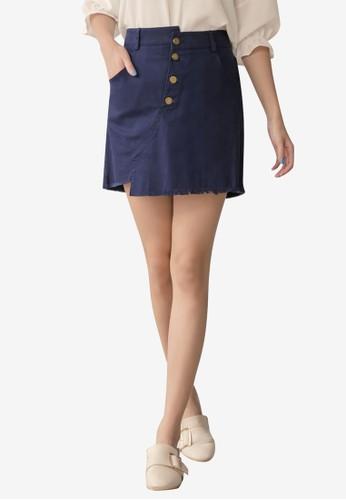 Tokichoi navy Button Up Mini Skirt 645A1AAE7C4AD7GS_1