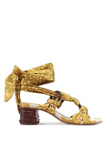 Mango yellow Polka-Dot Strap Sandals A3FD3SHA47C558GS_1