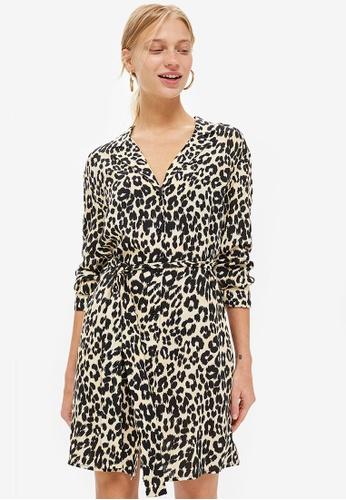 Buy TOPSHOP Animal PJ Shirt Dress  f2ecccae5