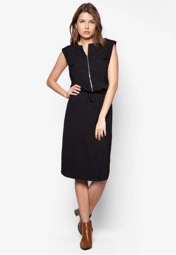 前拉鍊及膝esprit台灣outlet洋裝, 服飾, 正式洋裝