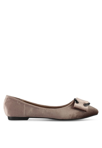 Mimosa brown Buckle Flats DDCF5SH8389092GS_1