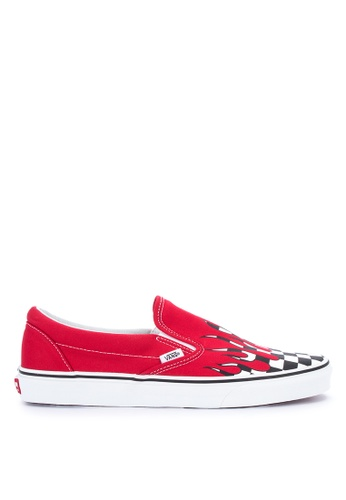 db9b02ffadae Shop VANS Checker Flame Classic Slip-On Sneakers Online on ZALORA  Philippines