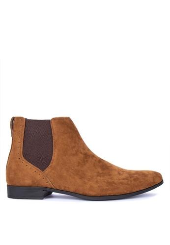 Burton Menswear London brown Chelsea Boots 7D698SH349CA66GS_1