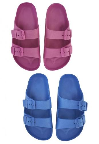 Pineapple blue and purple Kids' Classic Slip-ons 2DC83KS44F020BGS_1