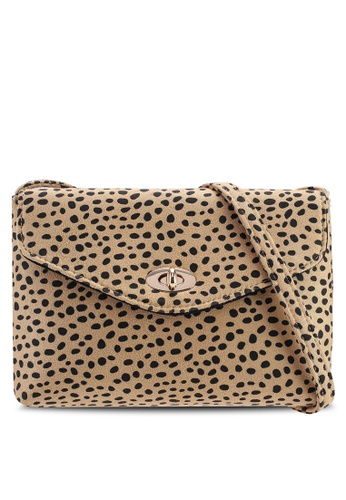 5a89ce148dd5 Cheetah Twistlock Crossbody Bag