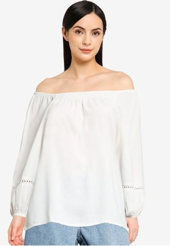 JACQUELINE DE YONG white Liv 3/4 Top 988ABAA047D095GS_1