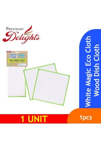 Prestigio Delights White Magic Eco Cloth Wood Dish Cloth 74F4CES46FC911GS_1