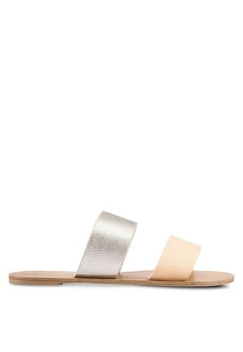 Billini gold and beige Cuban Sandals BI606SH0RT2ZMY_1