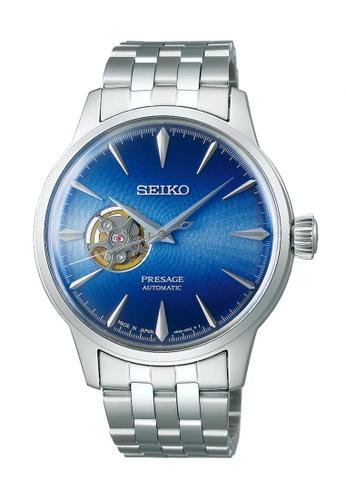 Seiko silver Presage Cocktail Blue Acapulco Automatic Watch SSA439J1 1FEC1AC94F0CC0GS_1