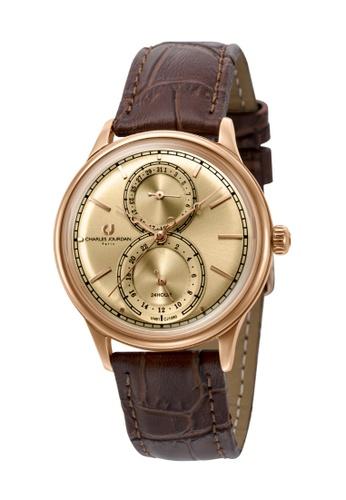 Charles Jourdan brown Charles Jourdan Ladies Watch Multi-Function Quartz CJ1060-2572M 12E50AC4F4CED4GS_1