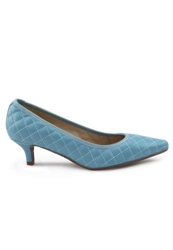 Shu Talk 藍色 羊軟皮尖頭低跟鞋 SH544SH09S54TW_1