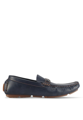 UniqTee blue Driving Moccasin With Buckle EE5A5SH7ED0BCDGS_1