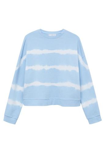 MANGO KIDS blue Tie-Dye Cotton Sweatshirt 40F3AKACE9084BGS_1