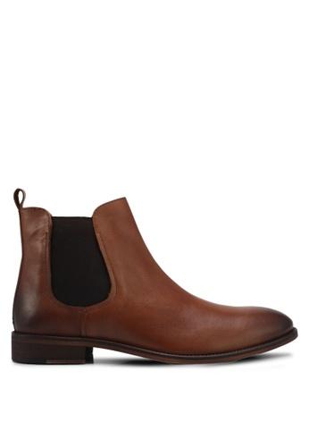 KG Kurt Geiger brown Bennett Chelsea Boots KG303SH0SNY1MY_1
