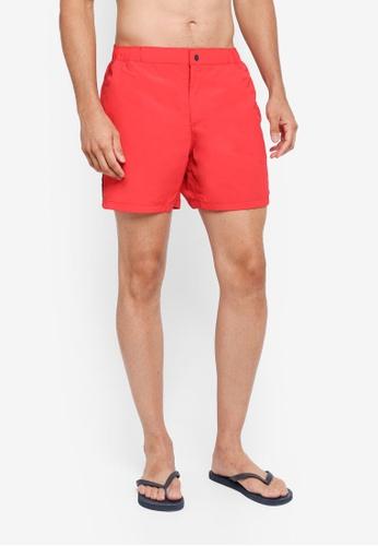 Jack Wills red Shaldon Swim Shorts EB7A5US50B2B24GS_1
