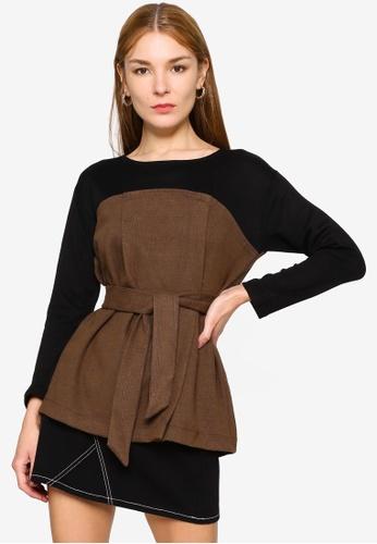 GLOBAL WORK brown Casual Knit Top 80FAEAAAAF5F58GS_1