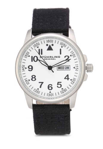 Stuhrling Original black Miyota Quartz Watch 01310AC985B076GS_1