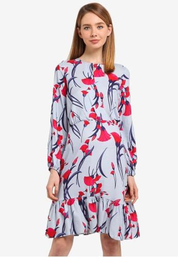 CLOSET blue Gathered A-Line Dress 4BAFAAA7E00361GS_1