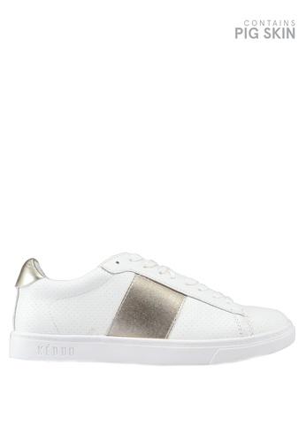 Keddo 白色 拼接雕紋運動鞋 5C69FSHAFA6473GS_1
