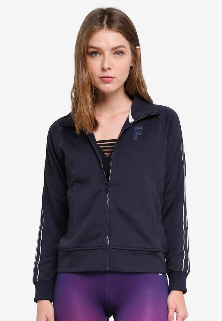Knit FILA Blue Heritage Jacket Zip RrB5Wfr