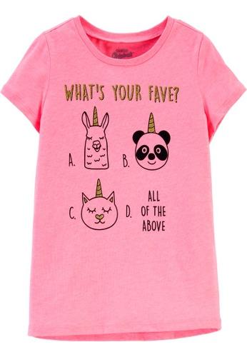 Oshkosh B'gosh pink OSH KOSH Girl Pink Graphic Tee F5512KAF6ED211GS_1