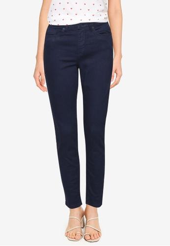 Springfield blue Slim Fit Cropped Eco Dye Trousers 981ECAA0B4D1CEGS_1
